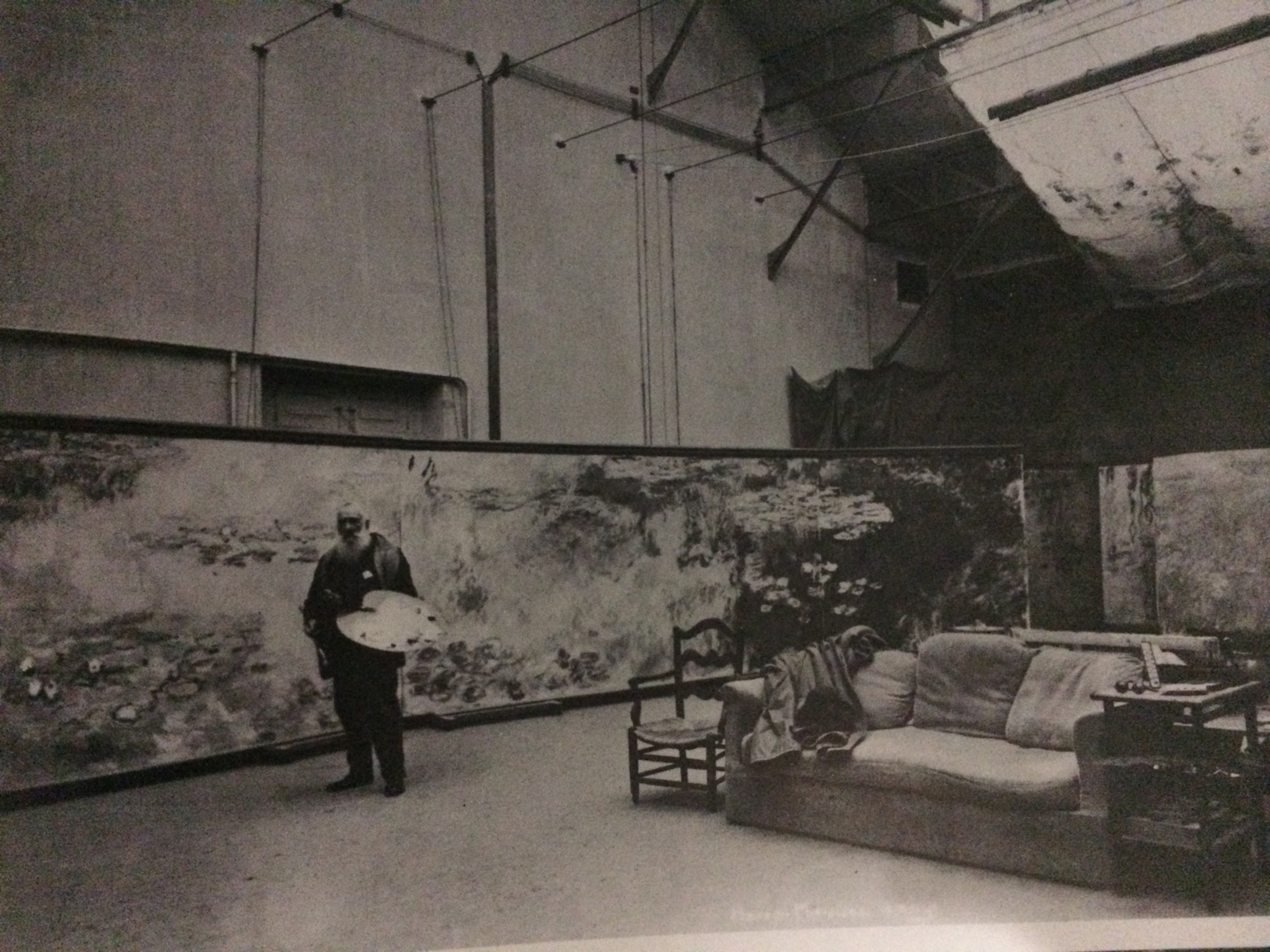 Monet in his studio.  Brilliant artist.